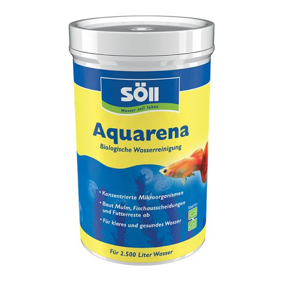 Soll Aquaarena, Skoncentrowana mieszanka bakterii wodnych, aktywuje biologiczne samooczyszczanie, do słodkiej wody do akwarium